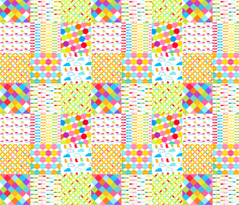 Wonky Happy Cheater fabric by carinaenvoldsenharris on Spoonflower - custom fabric