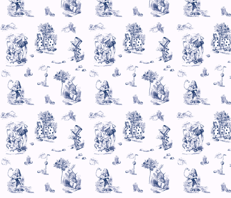 AliceToile-white background fabric by avelis on Spoonflower - custom fabric
