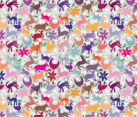 Mexico Springtime: United Love fabric by sammyk on Spoonflower - custom fabric