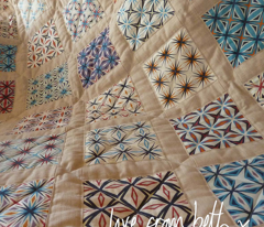 spider quilt top panel