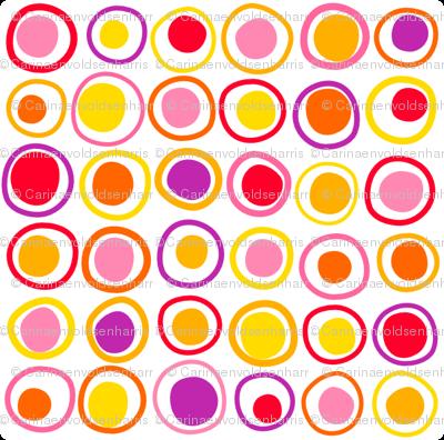 Wonky Dots Warm