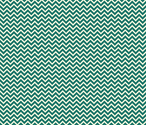 teal chevron fabric by amybethunephotography on Spoonflower - custom fabric