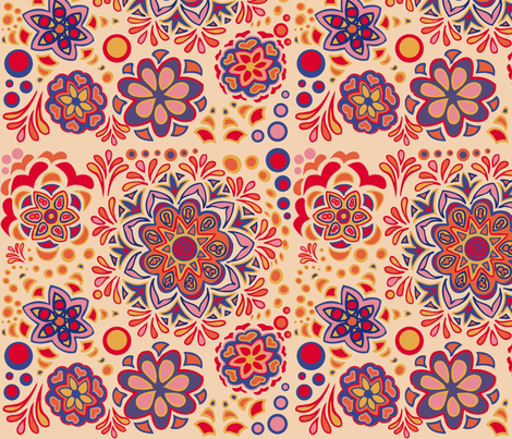 Creamsicle fabric by emilyclaire on Spoonflower - custom fabric