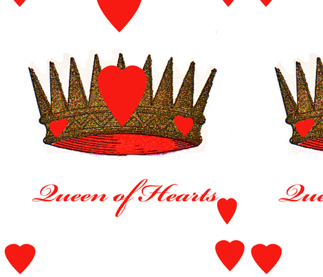 Queen of Hearts fabric by karenharveycox on Spoonflower - custom fabric