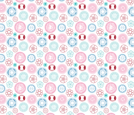 Vintage Buttons (candy) fabric by marcelinesmith on Spoonflower - custom fabric