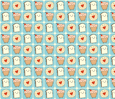 Cakeify and Friends fabric by marcelinesmith on Spoonflower - custom fabric