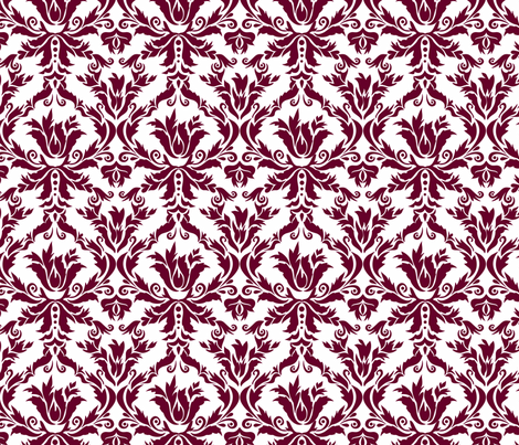 damask_wedding_fabric fabric by renule on Spoonflower - custom fabric