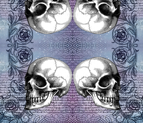 skullrose fabric by jenithea on Spoonflower - custom fabric