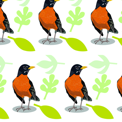 robin fabric by junej on Spoonflower - custom fabric