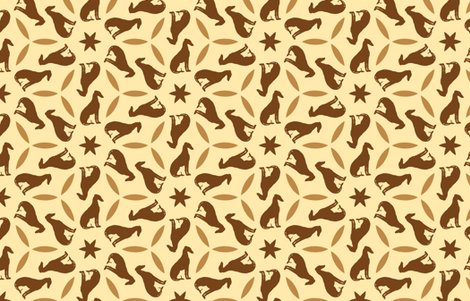 Golden Brown Greyhounds GG2   ©2010 by Jane Walker ©2010 by Jane Walker fabric by artbyjanewalker on Spoonflower - custom fabric