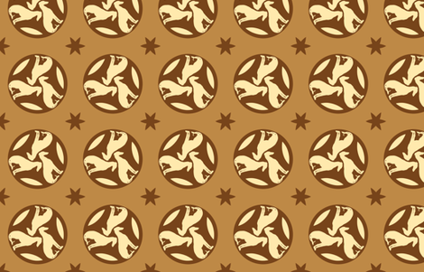 Golden Brown Greyhounds GG3   ©2010 by Jane Walker ©2010 by Jane Walker fabric by artbyjanewalker on Spoonflower - custom fabric