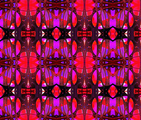 Hot pink and black mosaic fabric by whimzwhirled on Spoonflower - custom fabric