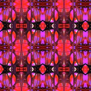 Hot pink and black mosaic
