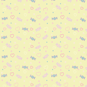 Unicorn Fantasy Candy Repeat Pastel Yellow