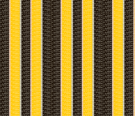 beetstripe2_yel fabric by backyarddesigns on Spoonflower - custom fabric