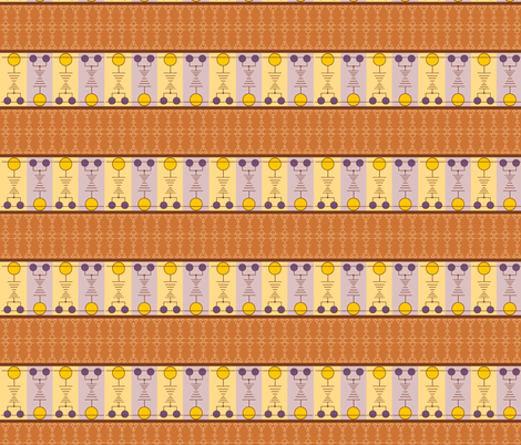 Dots & dashes 1_brn fabric by backyarddesigns on Spoonflower - custom fabric
