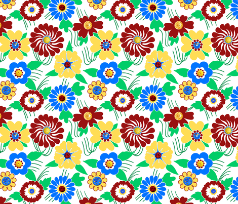 button_flowers4 fabric by shirlene on Spoonflower - custom fabric