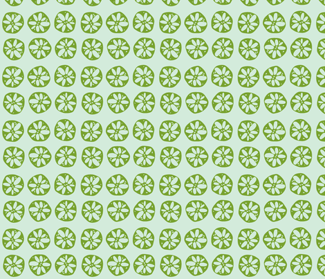 lotus root - green + light blue fabric by clearlytangled on Spoonflower - custom fabric