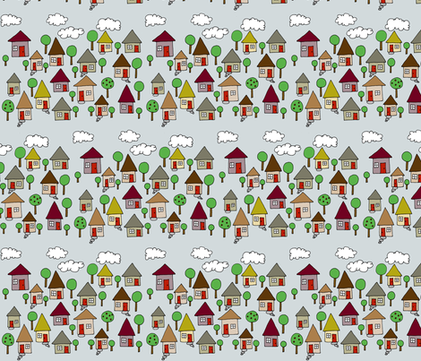 Little Neighborhood fabric by toni_elaine on Spoonflower - custom fabric