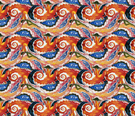 Small Passion Storm  fabric by helenklebesadel on Spoonflower - custom fabric
