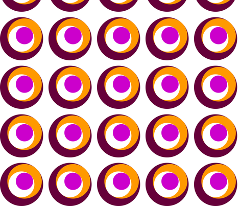 Circles within circles fabric by angela_s on Spoonflower - custom fabric