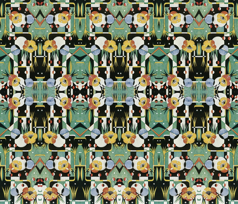 50's Throw Back fabric by whimzwhirled on Spoonflower - custom fabric