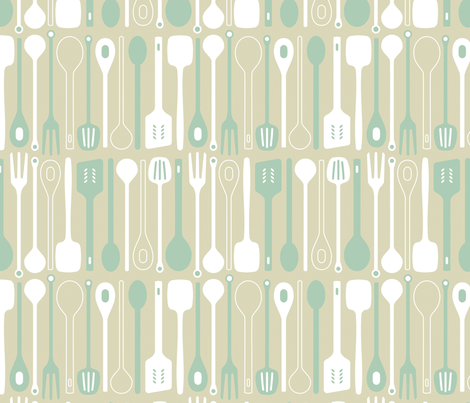 Spooner in duckegg fabric by onelittlebird on Spoonflower - custom fabric