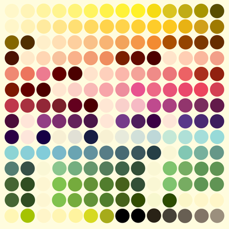 Polka Dot Palette fabric by marcelinesmith on Spoonflower - custom fabric