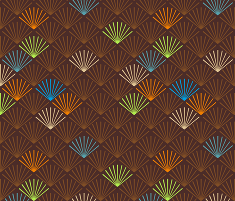 Shells café fabric by feinstarbeiten on Spoonflower - custom fabric