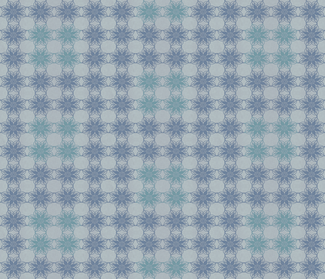 Vintage Floral - Denim fabric by kristopherk on Spoonflower - custom fabric
