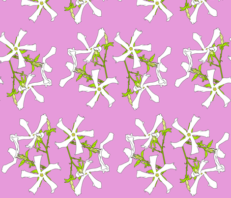 Pink Jasmine fabric by maeula on Spoonflower - custom fabric
