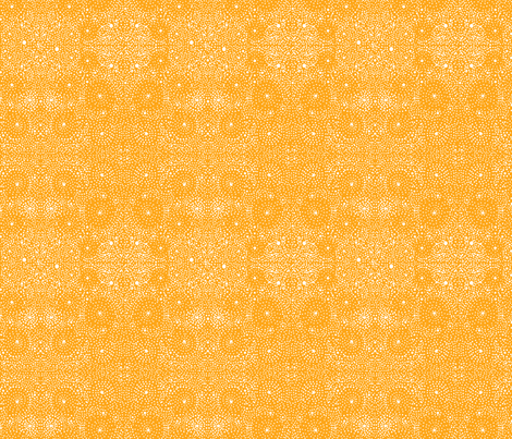 Sand Dollar, Orange fabric by natalie on Spoonflower - custom fabric