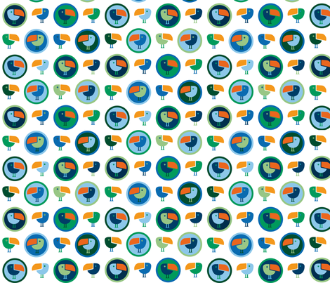 Tucan fabric by matida on Spoonflower - custom fabric