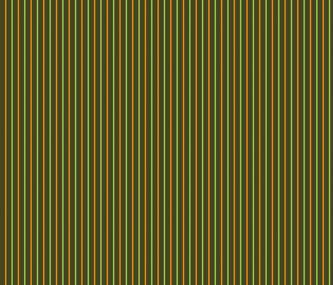 Green and orange stripes fabric by suziedesign on Spoonflower - custom fabric
