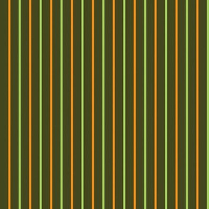 Green and orange stripes