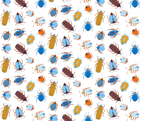 fabricbluebeetles fabric by matida on Spoonflower - custom fabric