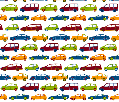 cars fabric by matida on Spoonflower - custom fabric