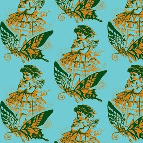 Butterfly Girl, Blue/Green