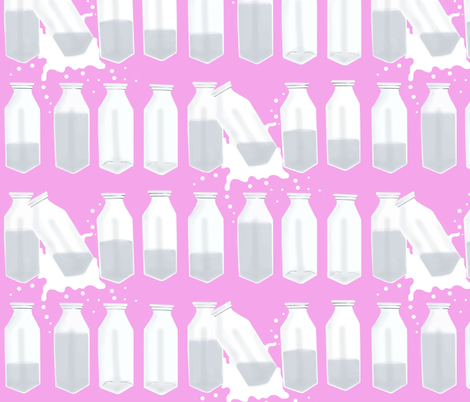 Milk Bottles fabric by dorolimited on Spoonflower - custom fabric
