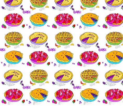 Bake Pie fabric by ephemeralalchemy on Spoonflower - custom fabric