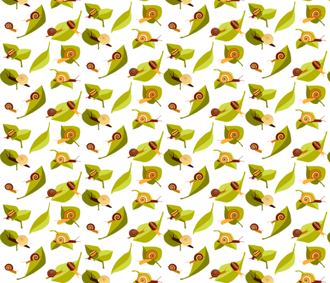 snail pace fabric by matida on Spoonflower - custom fabric