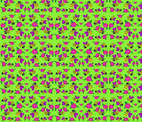 Small Bumbles fabric by ephemeralalchemy on Spoonflower - custom fabric
