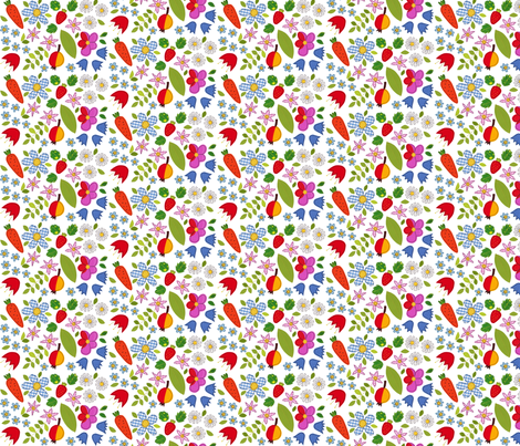 Flower splash fabric by syko on Spoonflower - custom fabric