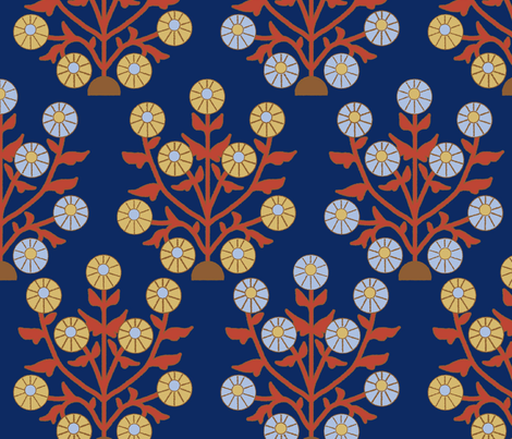 sunflower fabric by lfntextiles on Spoonflower - custom fabric