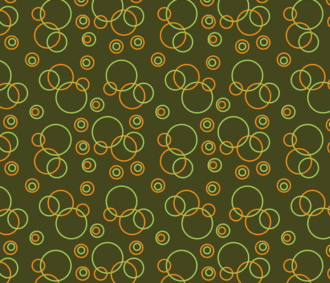 green and orange circles fabric by suziedesign on Spoonflower - custom fabric