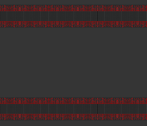 Red black and grey border pattern
