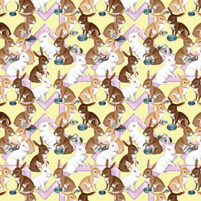Bunnies On Yellow