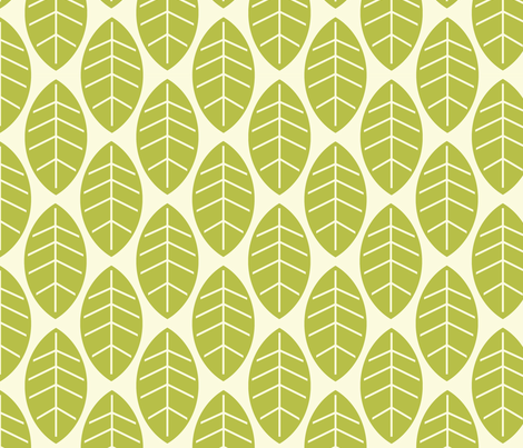 leaves in milk fabric by mytinystar on Spoonflower - custom fabric
