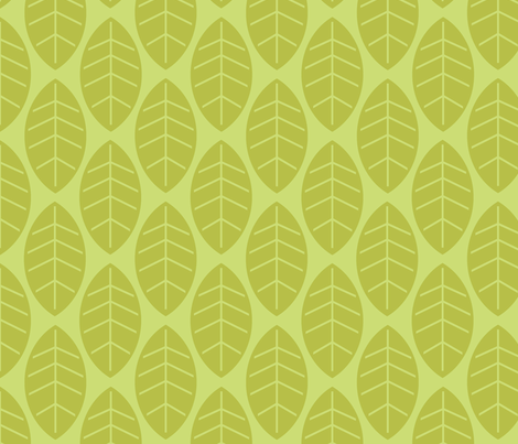 leaves in lime fabric by mytinystar on Spoonflower - custom fabric