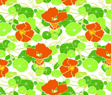 nasturtium fabric by alicefukushima on Spoonflower - custom fabric